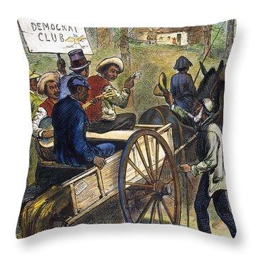 S. Carolina: Elections, 1876 Throw Pillow by Granger