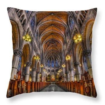 Sacred Heart Basilica Throw Pillow by Susan Candelario