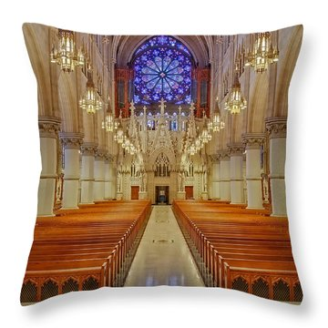 Sacred Heart Cathedral Basilica Throw Pillow by Susan Candelario