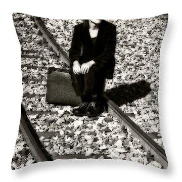 Sad Clown Throw Pillow by Joana Kruse
