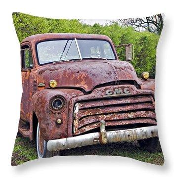 Sad Truck Throw Pillow by Susan Leggett