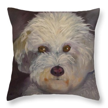 Throw Pillow featuring the painting Sadie by Carol Berning