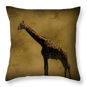 Safari Moon Throw Pillow