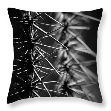 Saguaro Nights Throw Pillow