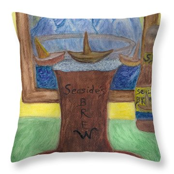 Sail A Head  Throw Pillow