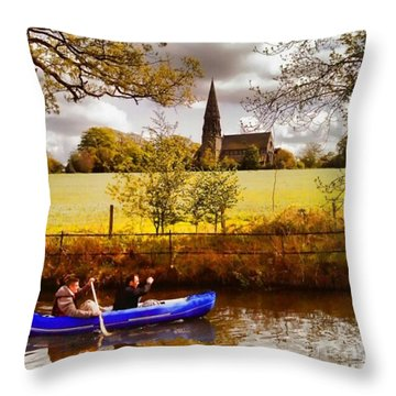 Sail Away Throw Pillow by Isabella F Abbie Shores