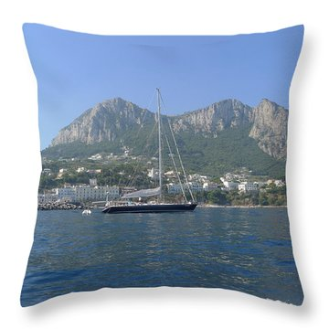 Sail Away Throw Pillow by Nora Boghossian