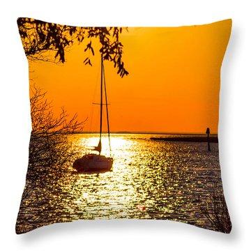 Throw Pillow featuring the photograph Sail Away by Shannon Harrington