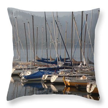 Sail Boats Throw Pillow