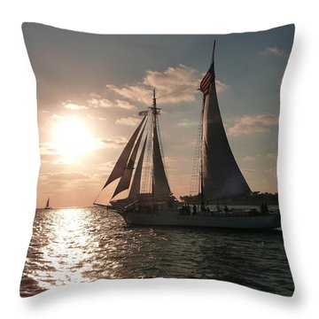 Throw Pillow featuring the photograph Sailboat At Key West by Jo Sheehan