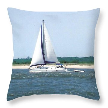 Sailboat On The Water Throw Pillow