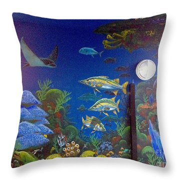 Sailfish Splash Park 9 Throw Pillow by Carey Chen
