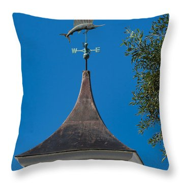 Sailfish Weather Vane At Palm Beach Shores Throw Pillow