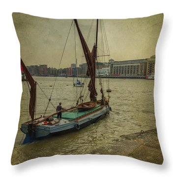 Sailing Away... Throw Pillow by Clare Bambers
