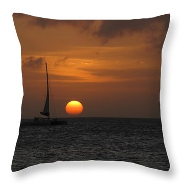 Throw Pillow featuring the photograph Sailing Away by David Gleeson