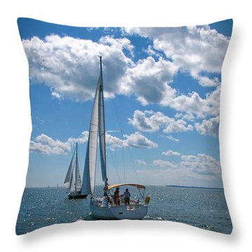 Throw Pillow featuring the photograph Sailing by Cindy Haggerty
