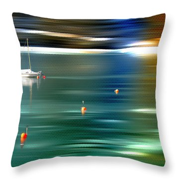 Sailing  Throw Pillow by Hannes Cmarits
