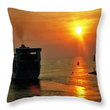 Sailing Into The Sunset Throw Pillow