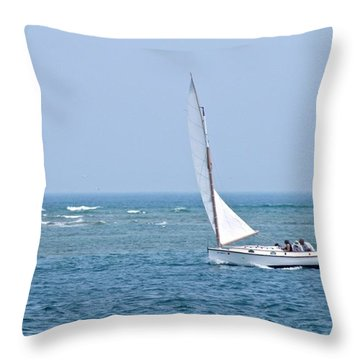 Sailing Off Cape Cod  Throw Pillow