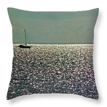 Throw Pillow featuring the photograph Sailing On A Sea Of Diamonds by William Fields