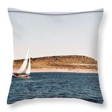 Throw Pillow featuring the photograph Sailing On Carter Lake by David Pantuso