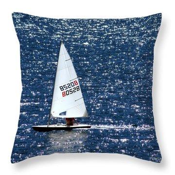 Sailing Throw Pillow by Patrick Witz