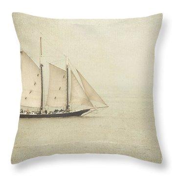 Sailing Ship Throw Pillow by Hannes Cmarits
