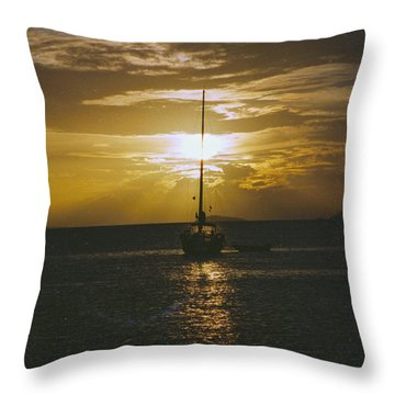 Sailing Sunset Throw Pillow by William Norton