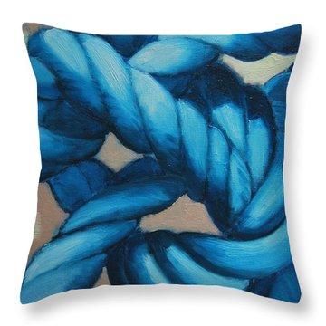 Sailor Knot 8 Throw Pillow by Ana Maria Edulescu