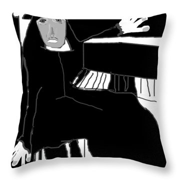 Saint Cecelia Throw Pillow