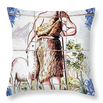 Saint John Throw Pillow by Gaspar Avila