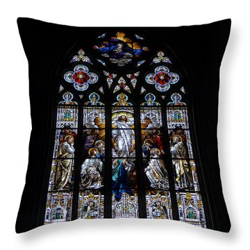 Saint Johns Stained Glass Throw Pillow by David Lee Thompson
