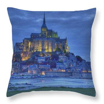 Saint Michaels Mount  Throw Pillow by Heiko Koehrer-Wagner