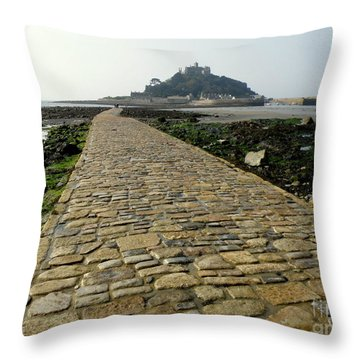 Saint Michael's Mount Throw Pillow by Lainie Wrightson