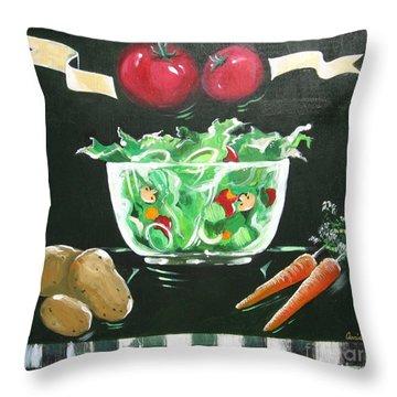 Salad Bowl Throw Pillow