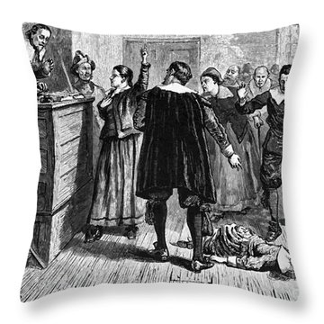 Salem Witch Trials, 1692-93 Throw Pillow by Photo Researchers