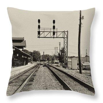 Salisbury North Carolina Depot Throw Pillow