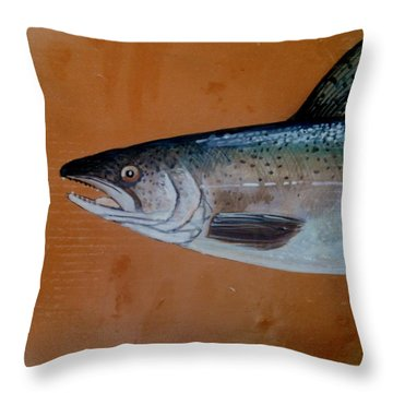 Salmon 1 Throw Pillow