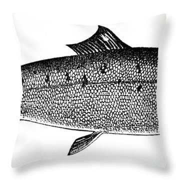 Salmon Throw Pillow by Granger