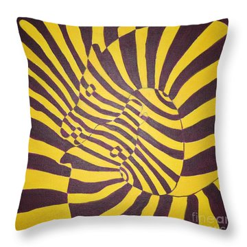 Salute To Victor Vasarly Throw Pillow