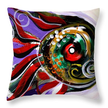 Salvador Dali Octo Fish Throw Pillow