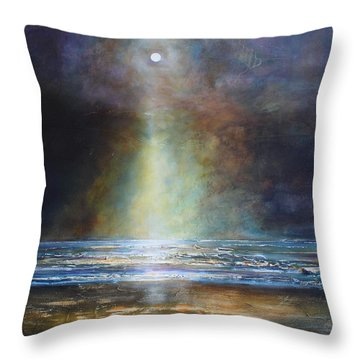 Salvation Beach Throw Pillow by Toni Grote