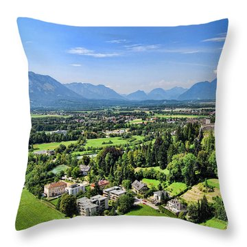 Salzburg IIi Austria Europe Throw Pillow by Sabine Jacobs