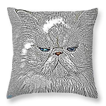 Throw Pillow featuring the photograph Sam I Am  by Donna Bentley