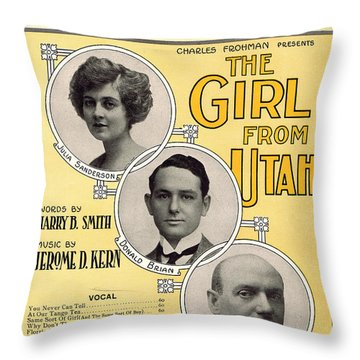 Same Sort Of Girl Throw Pillow by Mel Thompson