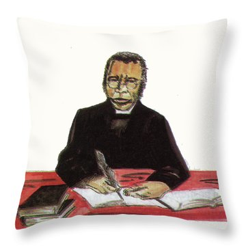 Samuel Ajayi Crowther Throw Pillow by Emmanuel Baliyanga