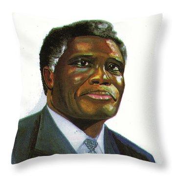 Samuel Kobia Throw Pillow by Emmanuel Baliyanga