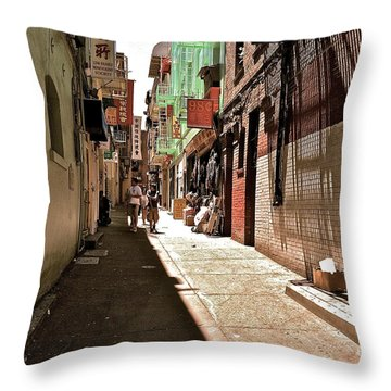 San Fran Chinatown Alley Throw Pillow by Bill Owen