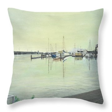 San Franciscio Bay Throw Pillow by Stuart B Yaeger