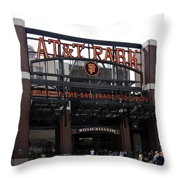 San Francisco Giants Baseball Park Throw Pillow